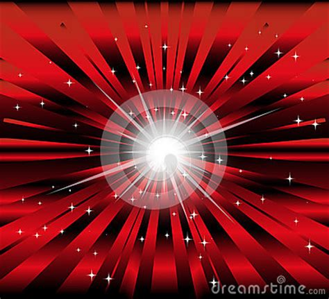 burst red  black background  ray  star light