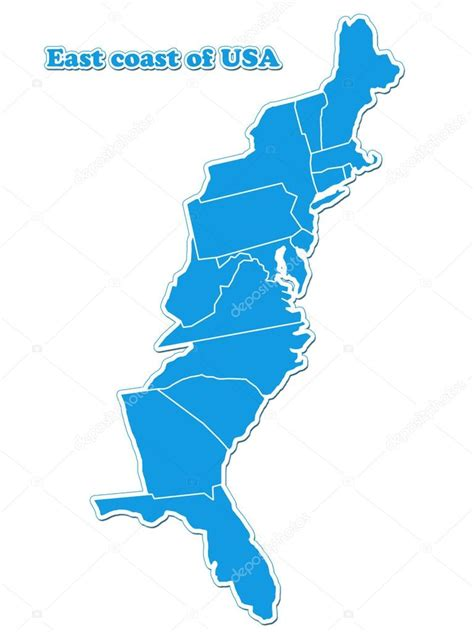 map east coast usa usa east coast map stock photo 169 lina0486 14358735