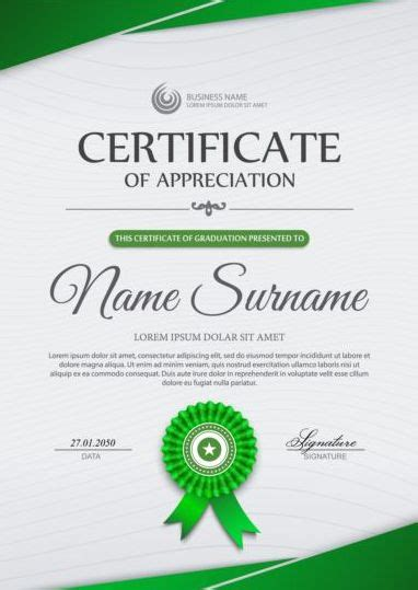 certificate design vector file green styles certificate template vector vector cover