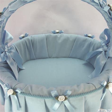 misure culle cesto nascita bianco panna rosa o azzurro artigianale