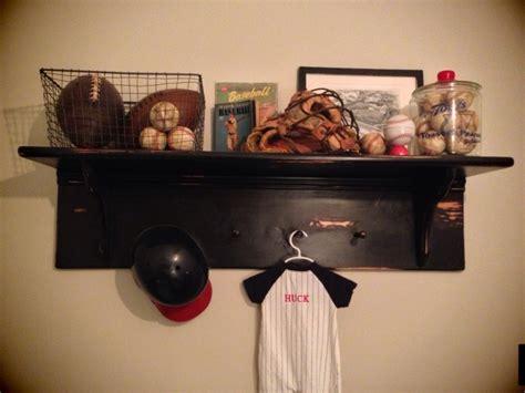 display shelf in sports nursery she loved a boy