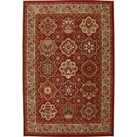 american rug craftsmen american rug craftsmen copperhill madder brown 8 ft x 11 ft area rug 432522 the home depot