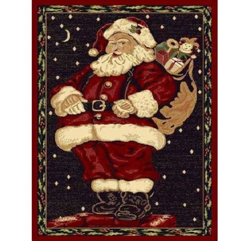 Top 10 Best Christmas Rugs 2017 Heavy Com Area Rugs Santa