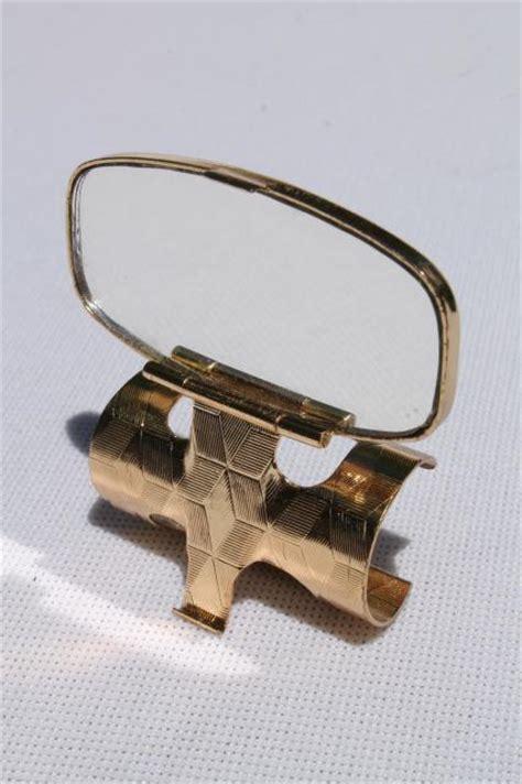 Modern Kitchen Furniture Vintage Lipstick Holder Clip Compact Mirror Purse