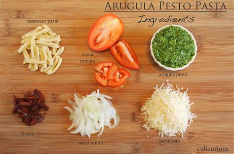 arugula pesto pasta recipe ingredients culicurious