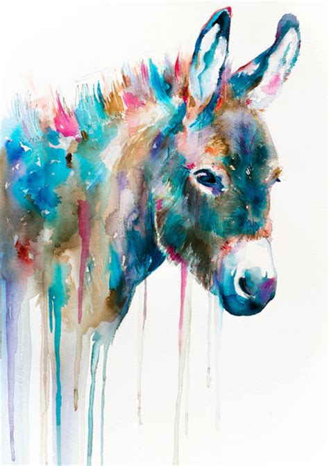 animal painting watercolor painting print 8 quot x 12 quot animal