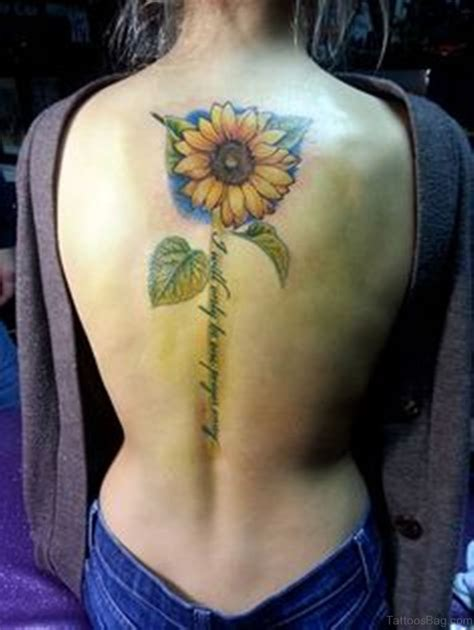 spine tattoos 85 pretty sunflower tattoos designs for back