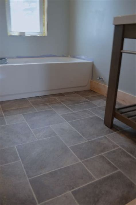 vinyl bathroom flooring bathroom remodel pinterest why i love sheet vinyl and other barn apartment updates