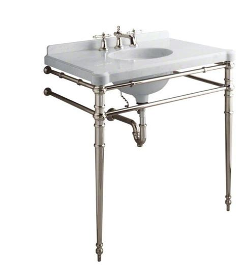 bathroom sink legs kallista chrome inigo by michael s smith console table