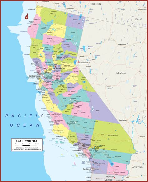 california map state california states map california map