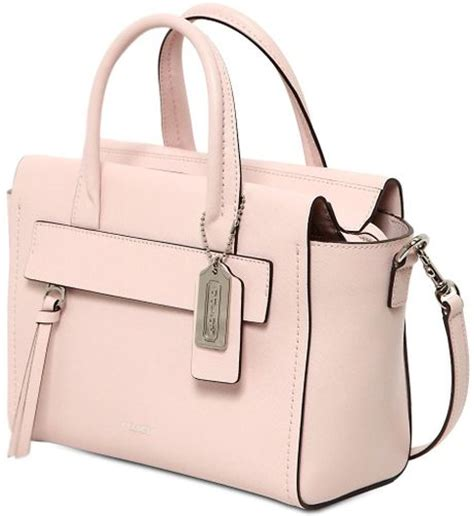 Light Pink Coach Purse by Coach Bleecker Saffiano Leather Top Handle Bag In Pink