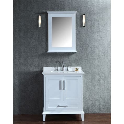ariel by seacliff nantucket 30 quot white single sink bathroom