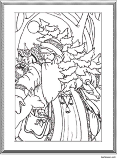 Vintage Santa Coloring Page | adult coloring books designs vintage santa poster for