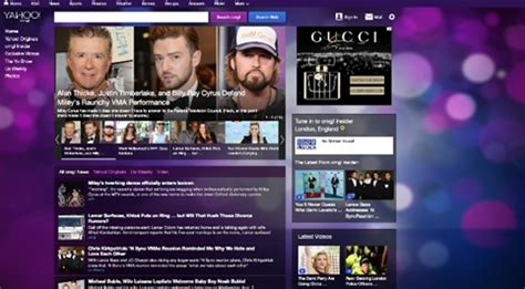 News Section Website Design by Yahoo Rolls Out New Website Designs Ahead Of Rebrand