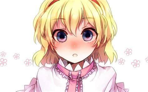 short hairstyles anime girl touhou rubias de ojos azules pelo corto de anime alice