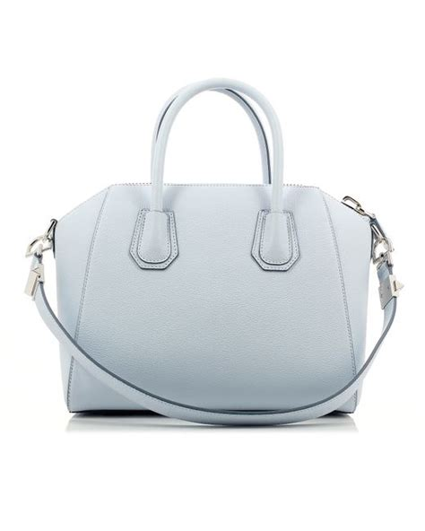 light blue givenchy bag givenchy light blue antigona small bag in white blue lyst
