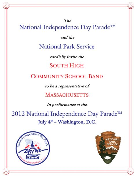 Invitation Letter Format Independence Day Invitation Letter South High Community School Band