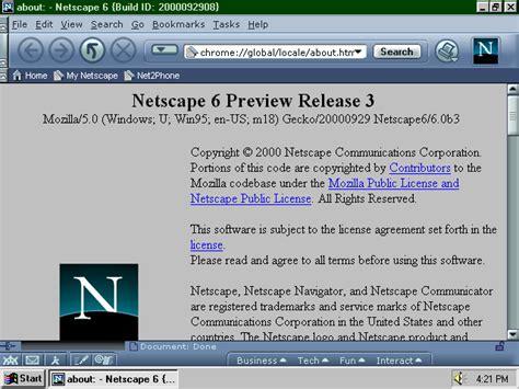 netscape theme firefox a visual browser history from netscape 4 to mozilla