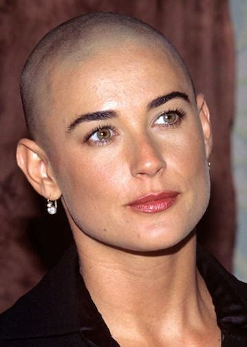 jane moore short blonde hair bald demi moore style