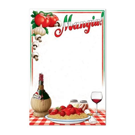 Room Decorating Games by Italian Menu Board Partycheap