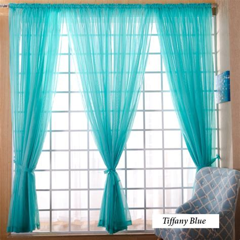 tiffany blue curtain panels voile sheer curtain panel