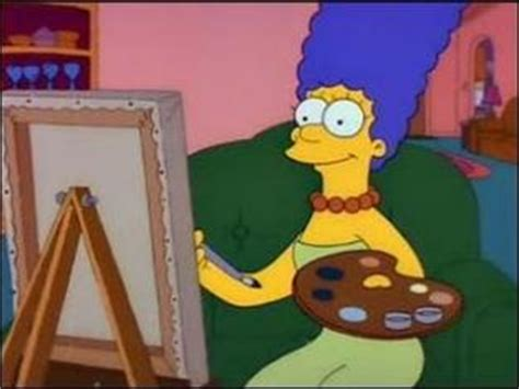 simpsons painting the simpsons season 2 episode 18 quot brush with greatness