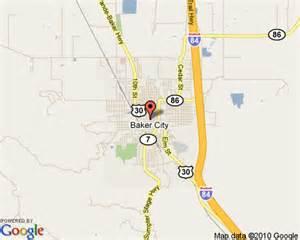 Baker City Oregon Map by Baker City Oregon