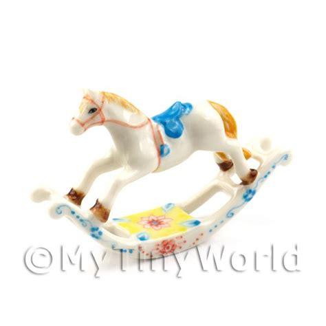 dolls house rocking horse dolls house miniature collectors dolls house miniature beautiful handmade ceramic