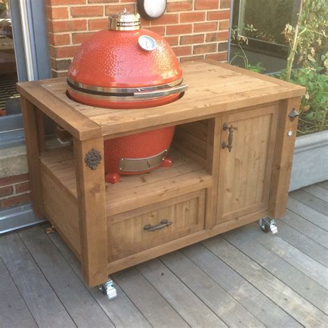 Grill Table by Grill Table Or Grill Cabinet For Big Green Egg Kamado Joe