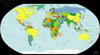 names of countries world map with country names images