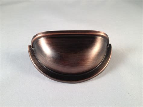 Cup Cabinet Pull by Cup Pull Kitchen Cabinet 3 Quot Antique Copper Ebay