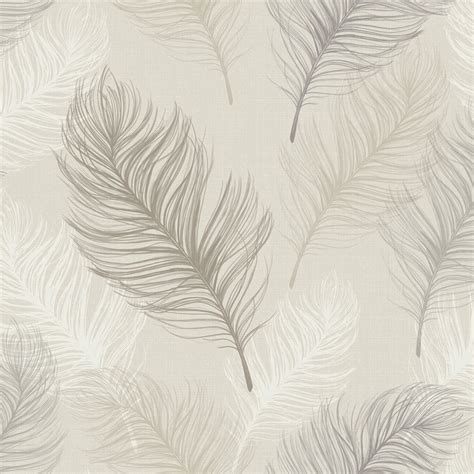 Wall Stickers Boys Bedroom whisper feather wallpaper rolls taupe arthouse 669802