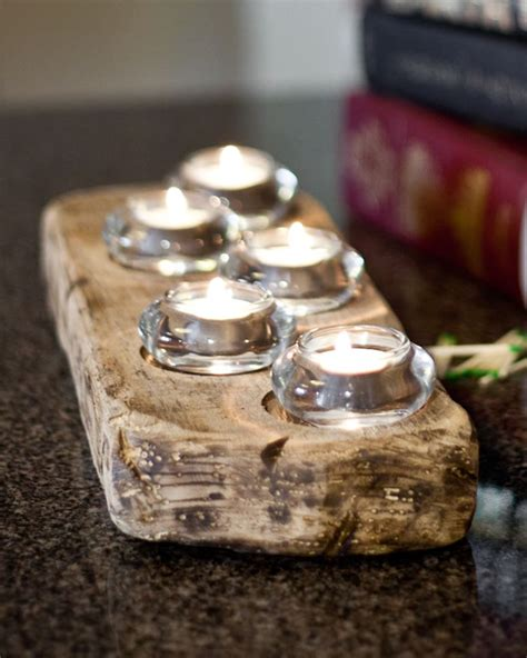 Barn wood Candle holders