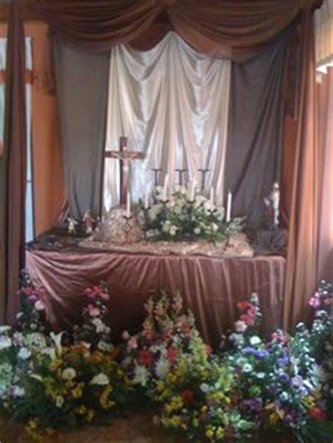 imagenes de altares de novenarios con papel altar novenario altares nidia pinterest