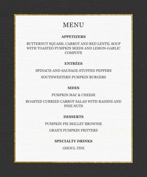 dinner menu for adults planning a spooky bash serve this menu aol