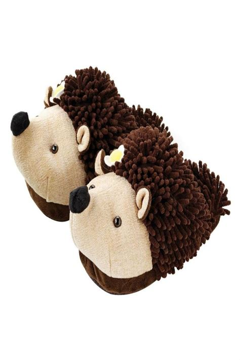fuzzy friends slippers fuzzy friends hedgehog slippers from alabama by tickled
