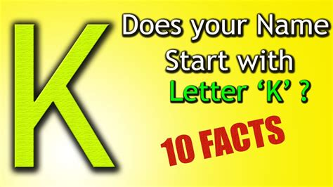 what color starts with k 10 facts about the whose name starts with letter k