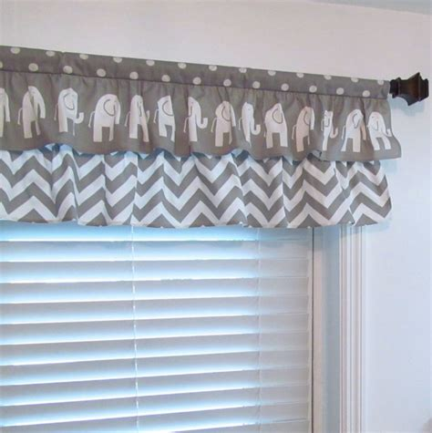 Nursery Valance Curtains Best 25 Chevron Valance Ideas On Kitchen Valances Burlap Window Treatments And