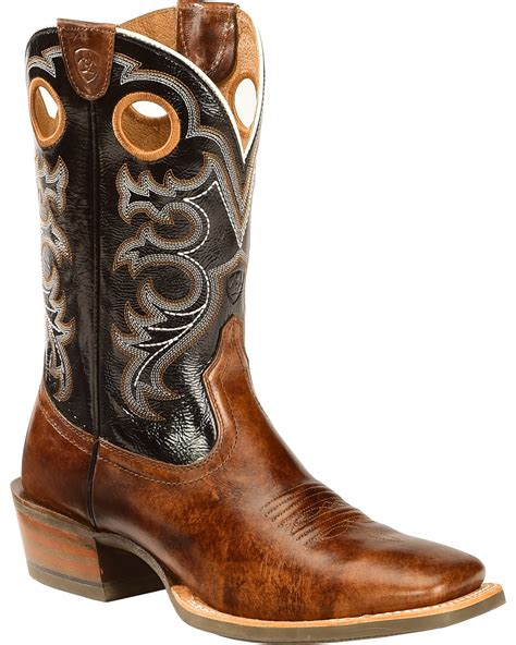 ariat toe boots ariat crossfire performance western boots square toe