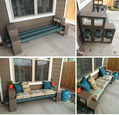 cinder block bench with back cinder block bench cinder blocks and benches on pinterest