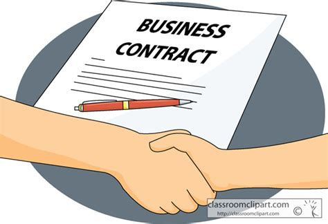 Agreement Clipart business business contract agreement classroom clipart