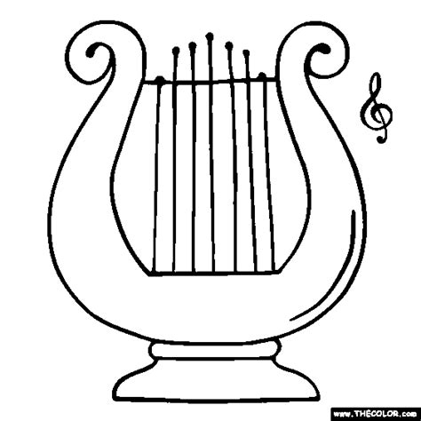 harp free coloring pages