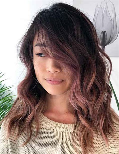 rose gold hair dye dark hair 20 amazing dark ombre hair color ideas