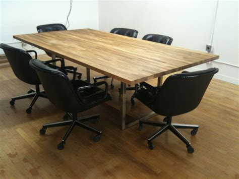 a 441 oak steel conference table fixed future