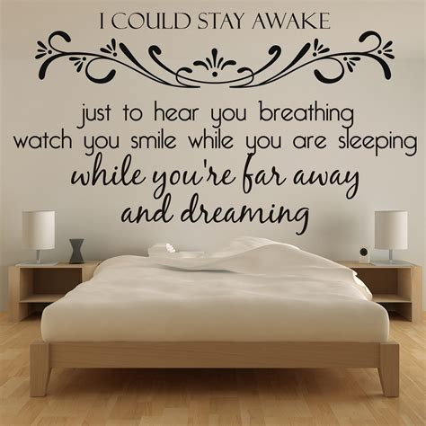 bedroom lyrics aerosmith wall sticker lyrics wall art