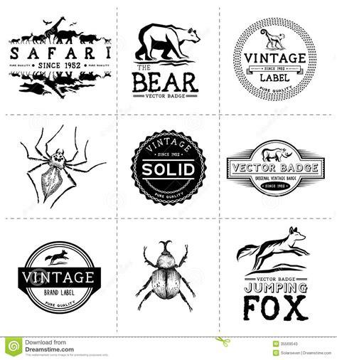 vintage animal labels stock photos image 35569543