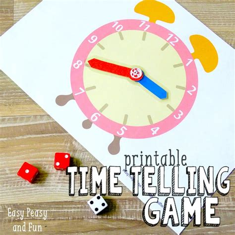 free printable clock games printable time telling game easy peasy and fun