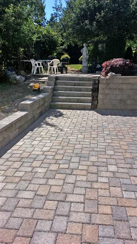 Paver Patio Drainage Thurston County Paver And Drainage System Installation Ajb Landscaping Fence