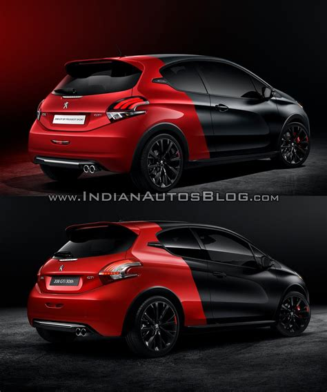 peugeot 208 gti 30th anniversary 2015 peugeot 208 vs peugeot 208 old vs new
