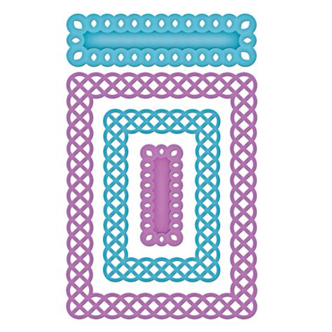 a2 scallop card template spellbinders dies the st simply ribbon store